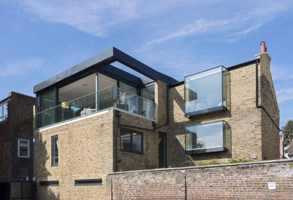 Oriel windows on London apartment