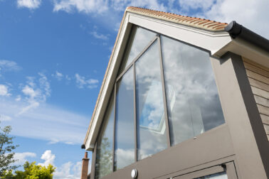 ODC Aluminium Curtain Walling installed in Cottage Oxfordshire