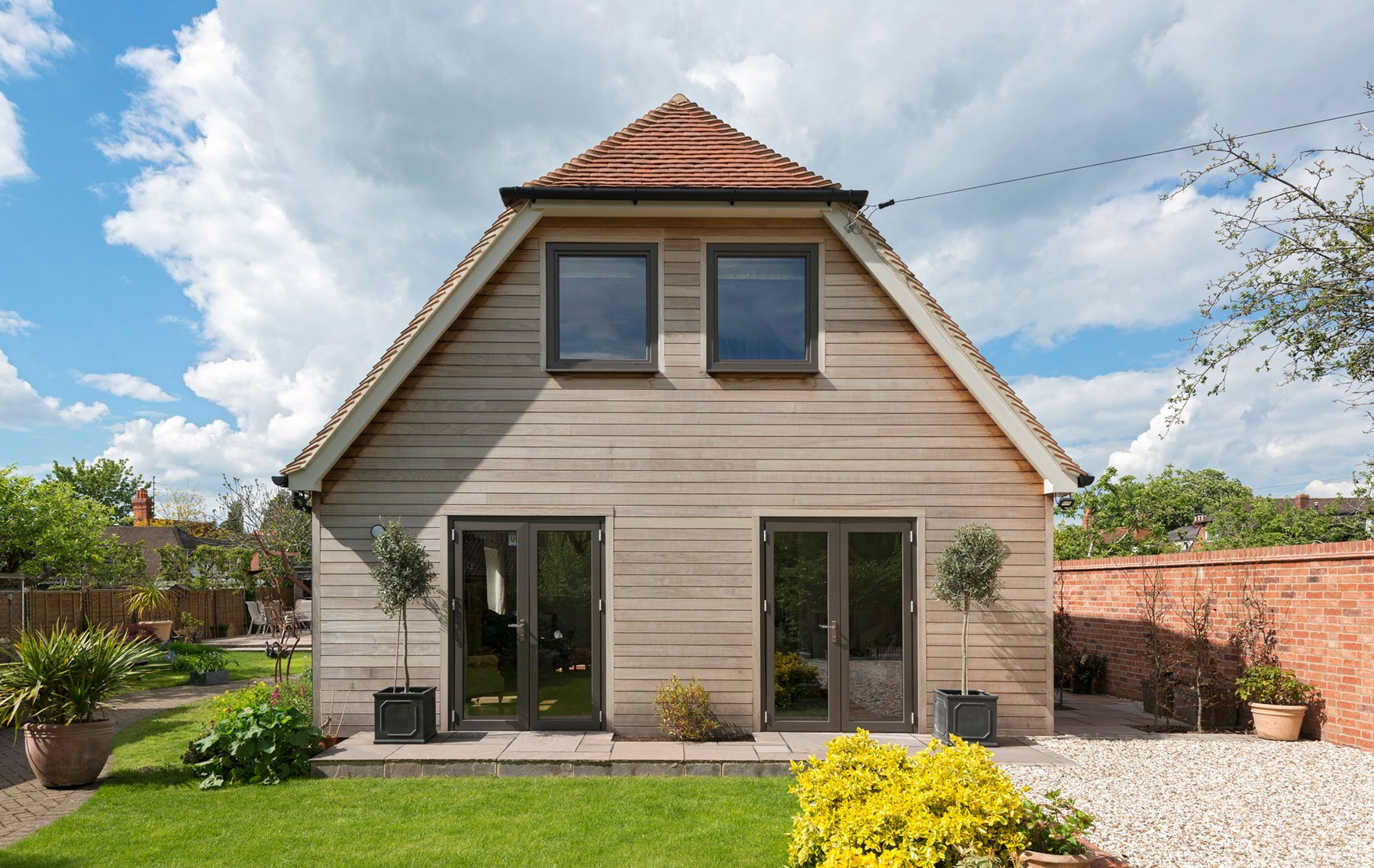 ODC Aluminium French doors and windows installed in Cottage Oxfordshire