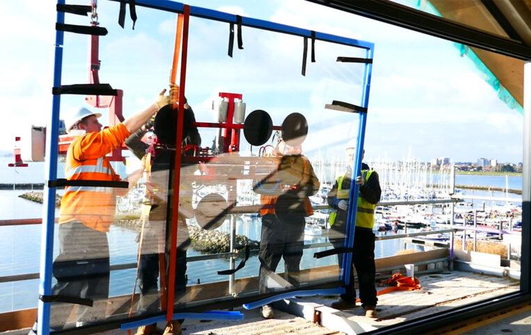 glass installation by ODC team