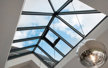 Hipped and gabled roof lantern on stunning ODC new build in new forest