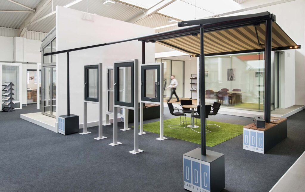 ODc Showroom aluminium window display