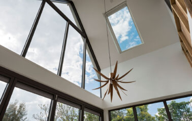 ODC Aluminium curtain walling and rooflight installed in Cottage Oxfordshire