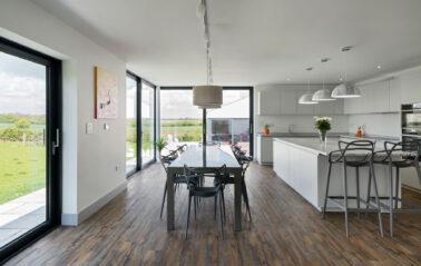 ODC300 aluminium sliding doors for wide views of Essex countryside