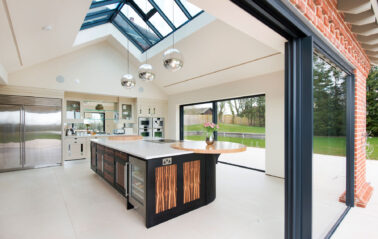Slimline ODC Cero Sliding System and roof lantern on stunning ODC new build in new forest