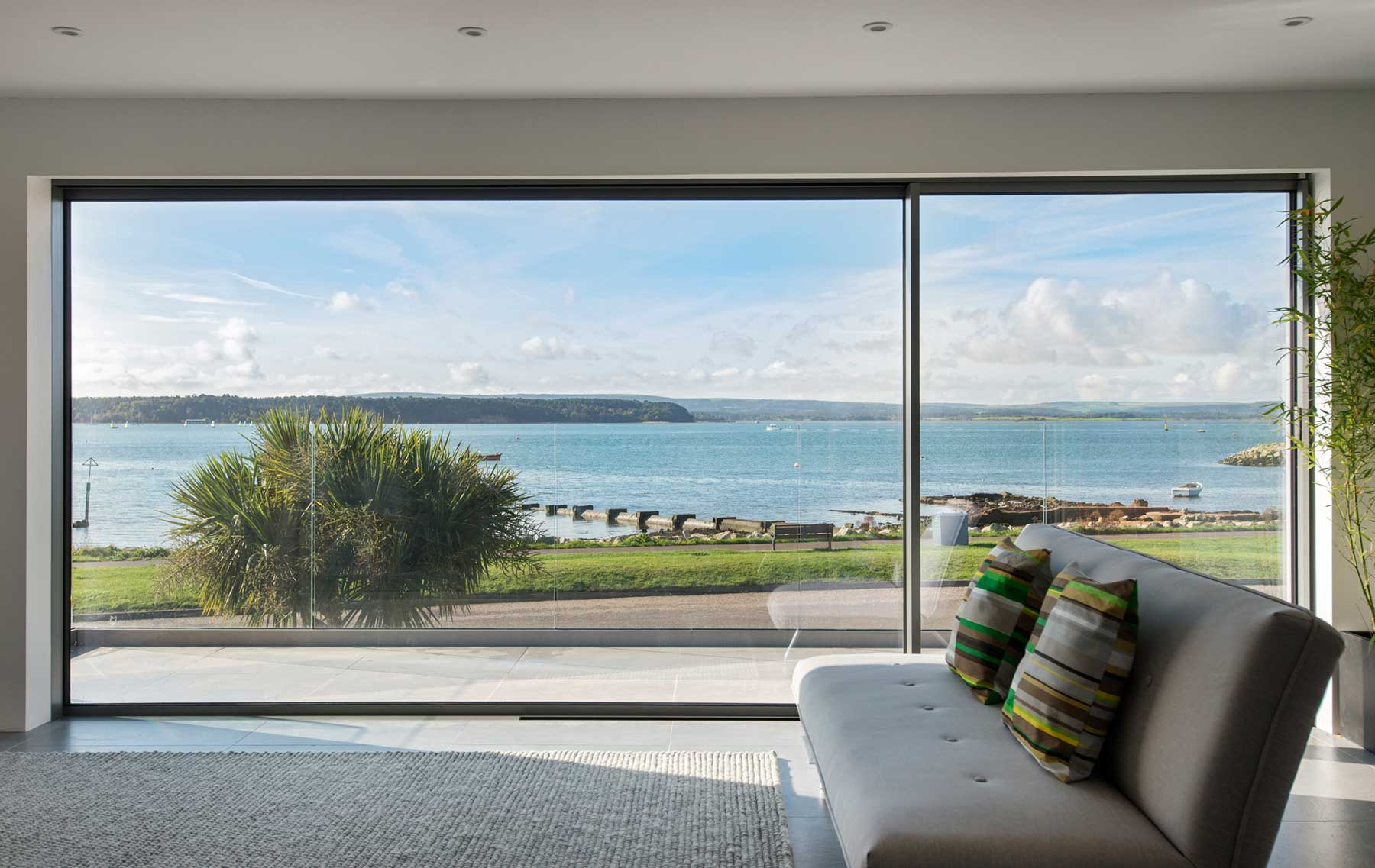 Oversized coastal Glazing overlooking Poole Harbour