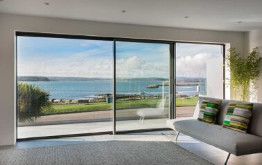 Cero sliding doors, ideal for coastal glass and glazing