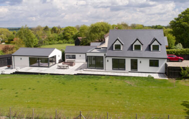 House renovation with sliding system ODC300, windows and curtain walling in Essex