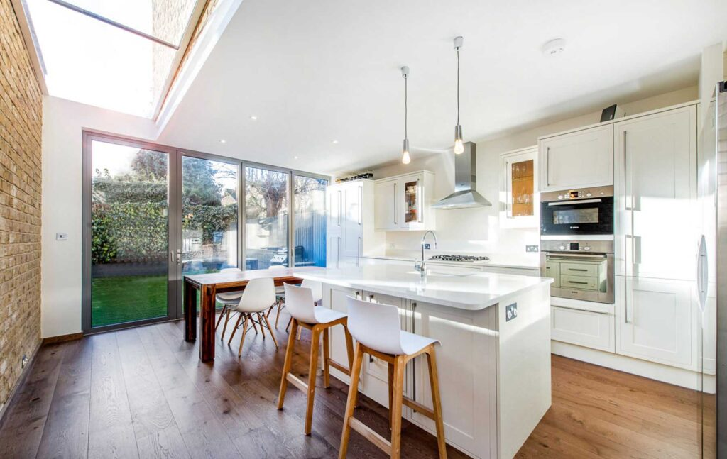 Bifold doors for modern kitchen