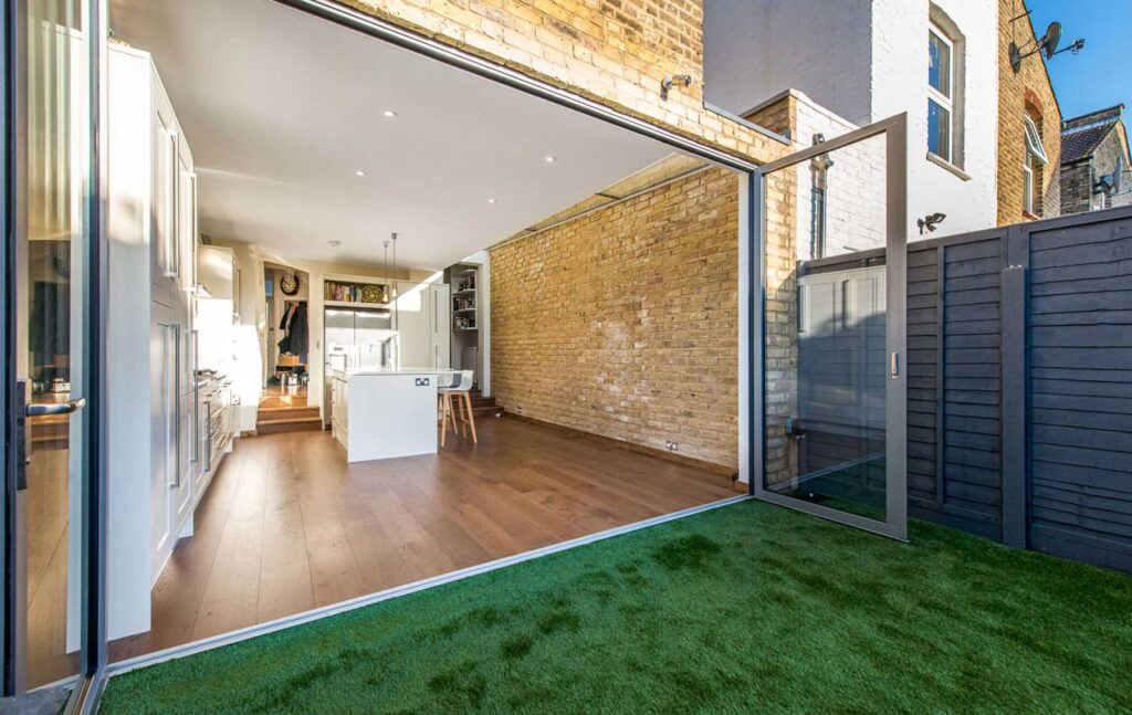 Side return extensions with bifold doors