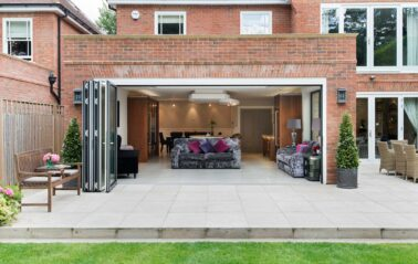 Bifolds installed in Buckinghamshire open up to the outdoor space