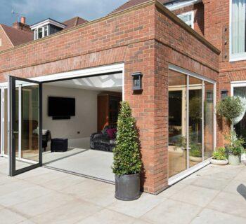 ODC aluminium bifolding door system installed in Beaconsfield Buckinghamshire