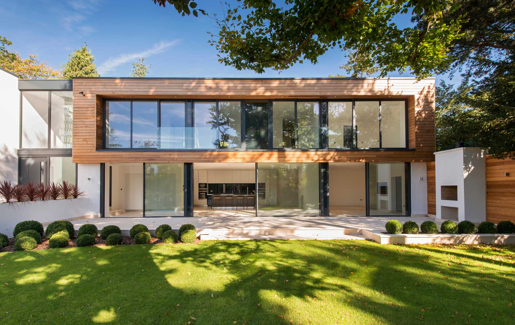 New build house with Cero sliding doors in Kingston