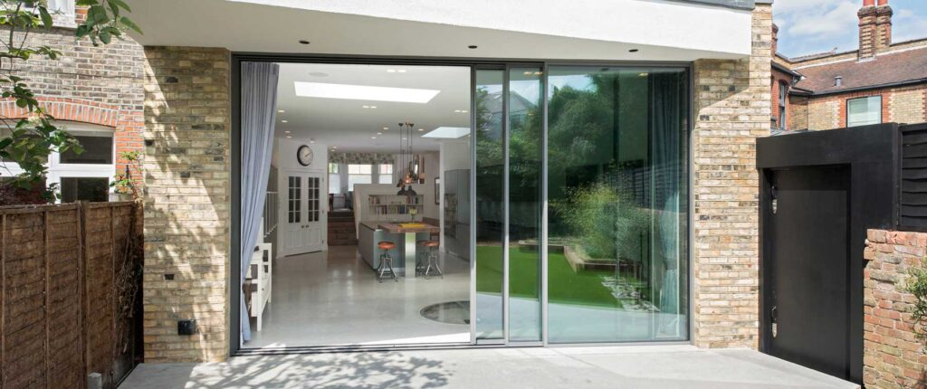Cero sliding doors for kitchen extension