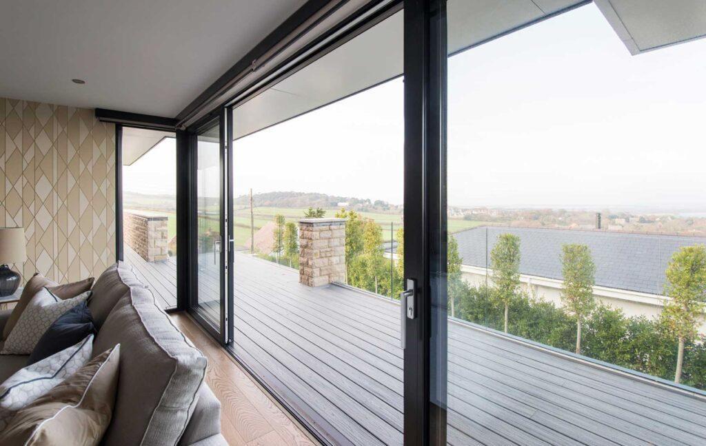 Glass balustrades for coastal home