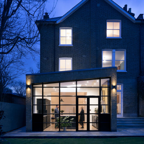 Custom glazing bars. A Wintergarden for London home
