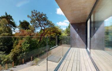 Glass balustrades on Dorset new build home