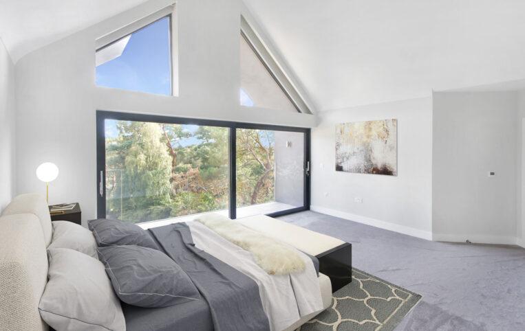Sliding doors for first floor bedroom