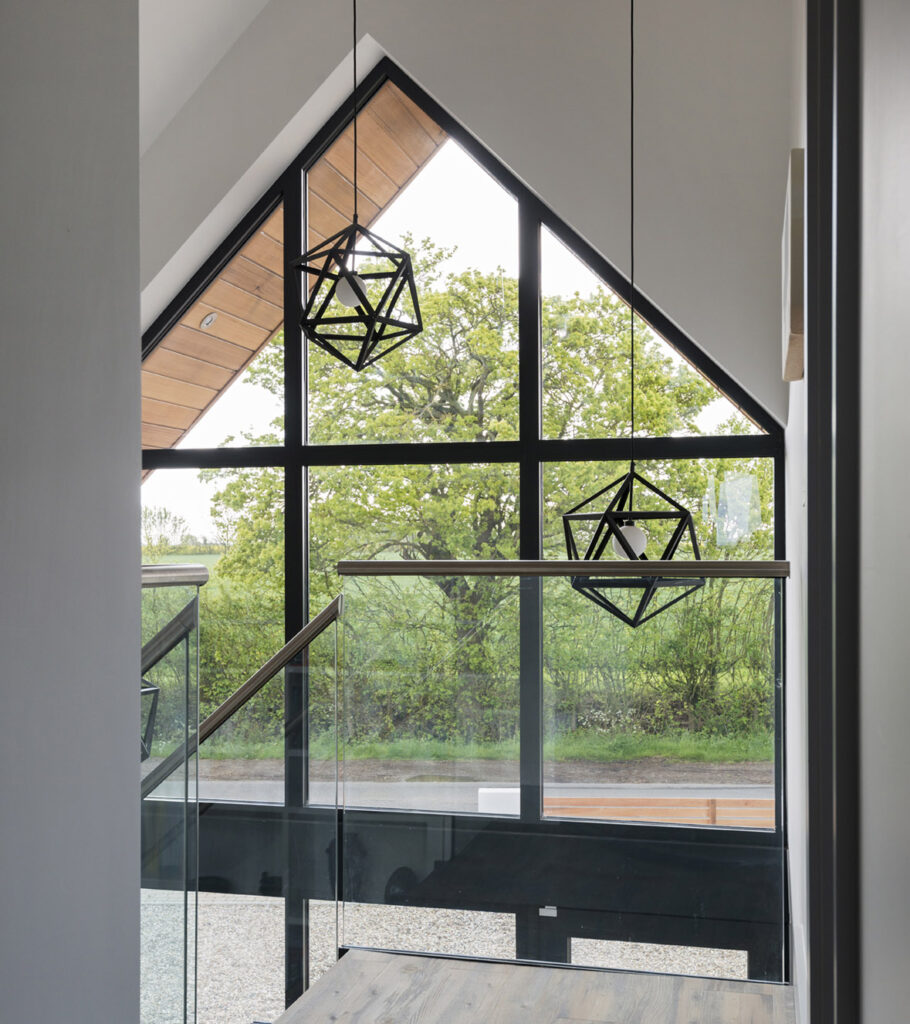 Curtain walling for refurbished home