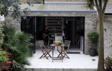 Hackney property benefits from aluminium slim bifold doors in an anthracite frame