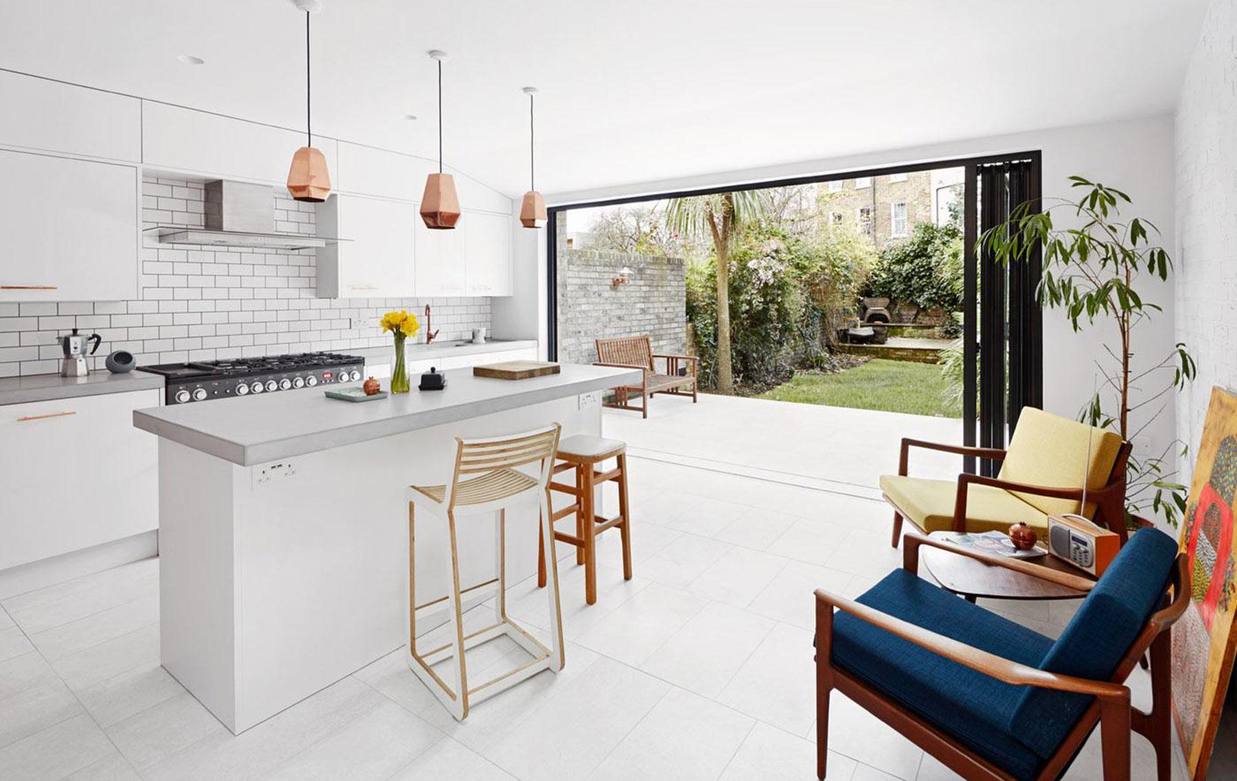 Bifold doors open up the garden for a Hackney home