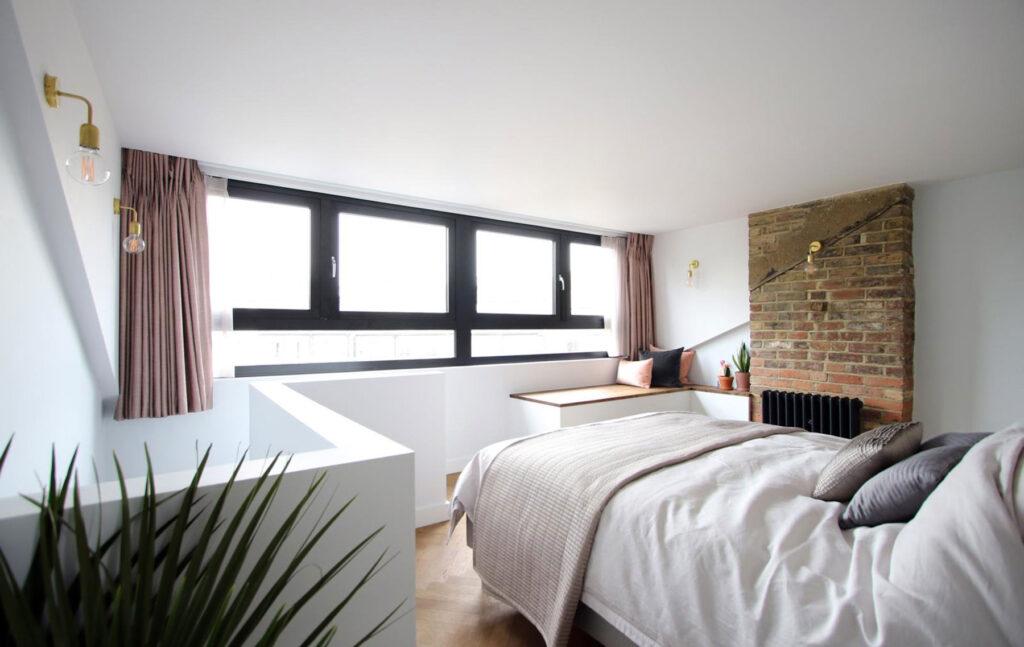 Aluminium casement windows for bedroom