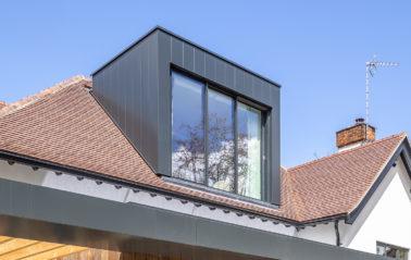 Dormer roof sliding windows and juliet balcony for loft conversion
