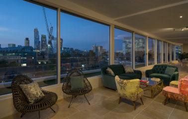 Stunning panaromic views through ODC Cero slim sliding doors in central london